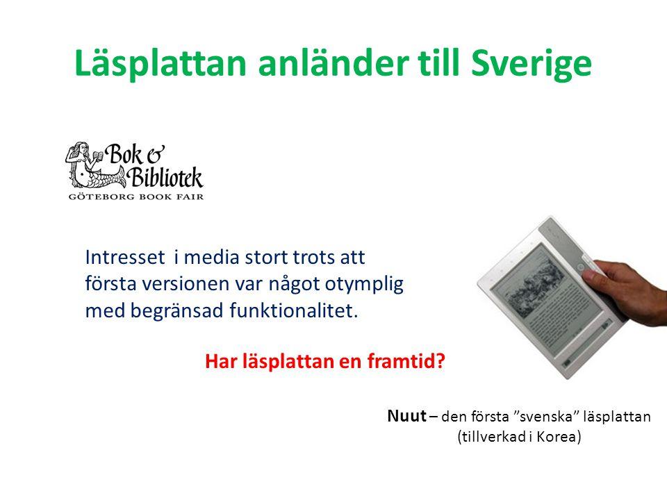 Läsplattan anländer till Sverige