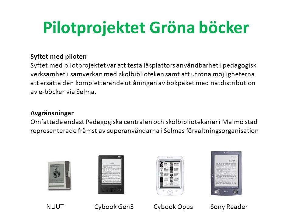 Pilotprojektet Gröna böcker