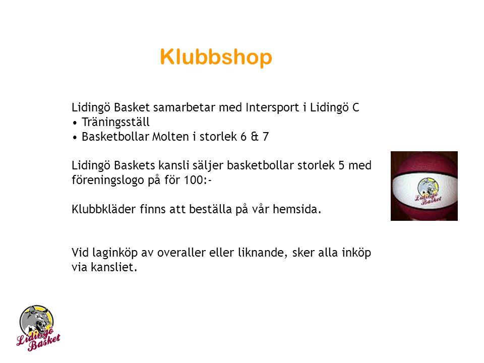 Klubbshop Lidingö Basket samarbetar med Intersport i Lidingö C