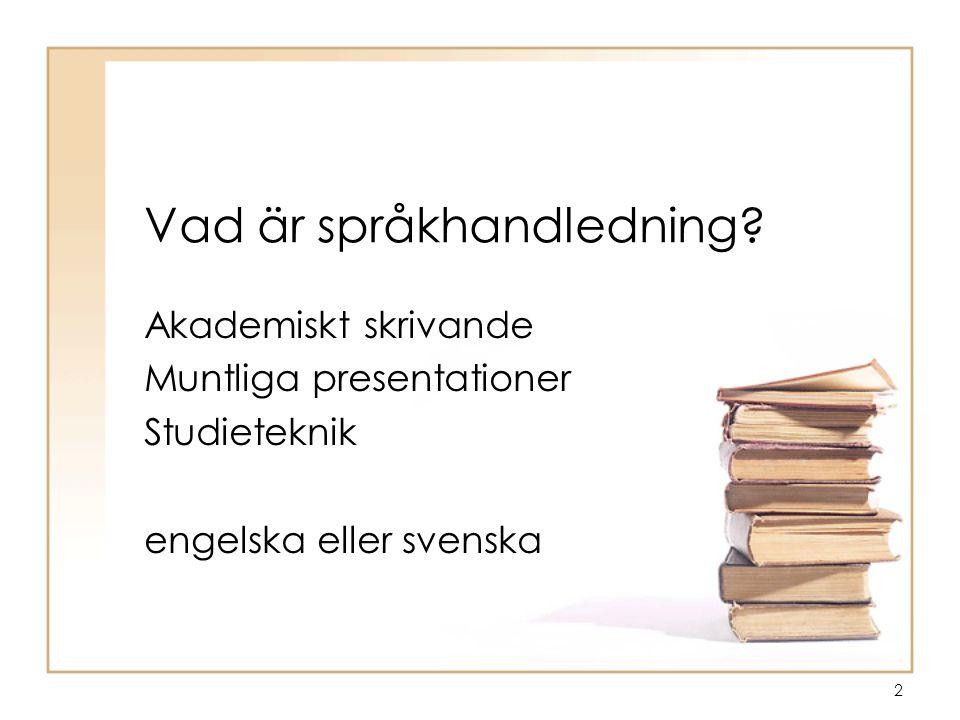 Vad är språkhandledning