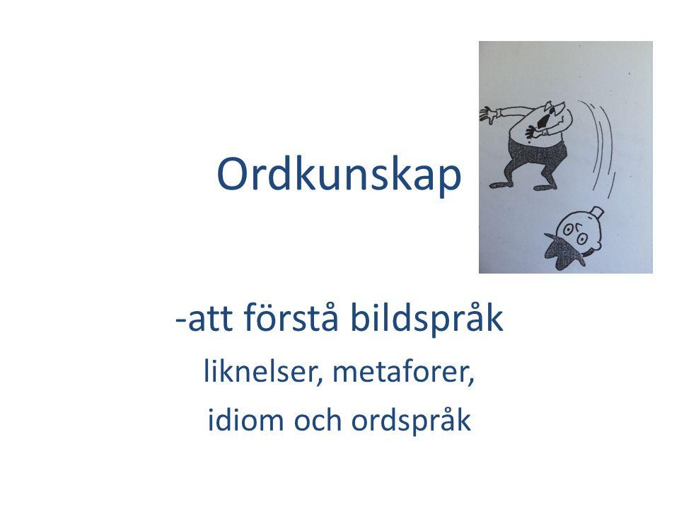 -att förstå bildspråk liknelser, metaforer, idiom och ordspråk