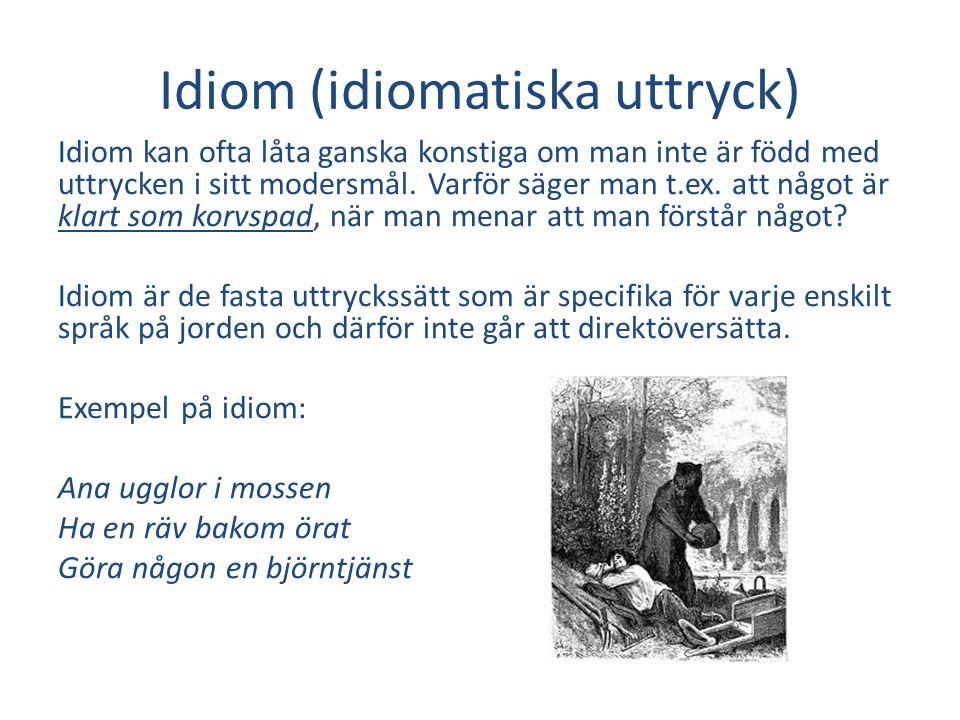 Idiom (idiomatiska uttryck)