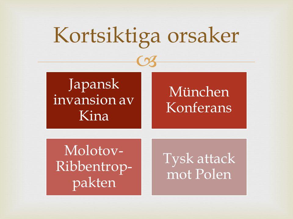 Kortsiktiga orsaker Japansk invansion av Kina München Konferans