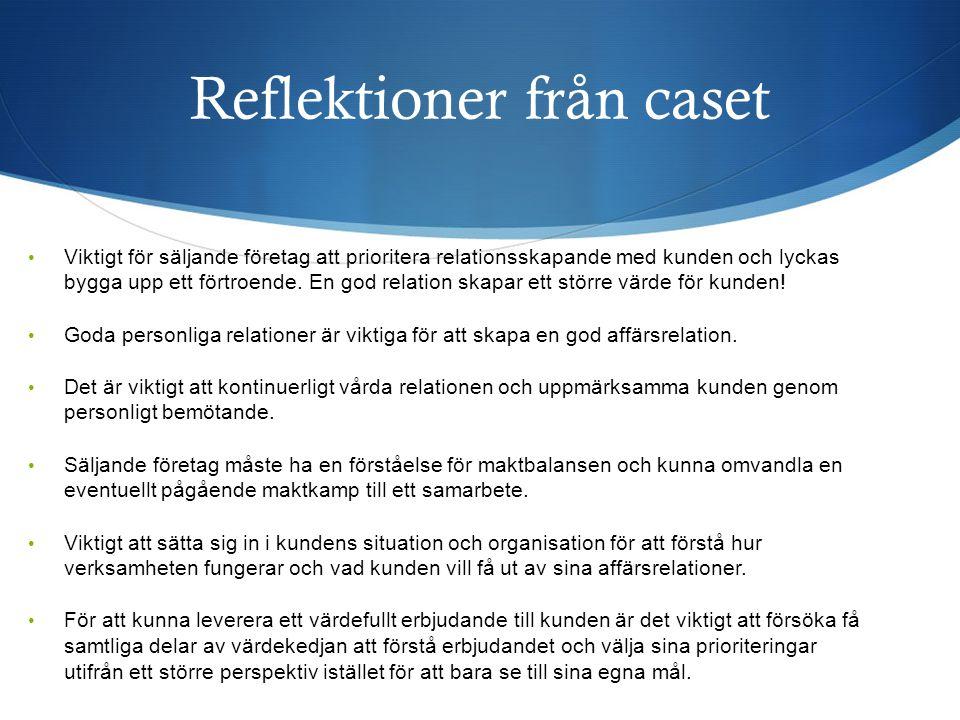 Reflektioner från caset