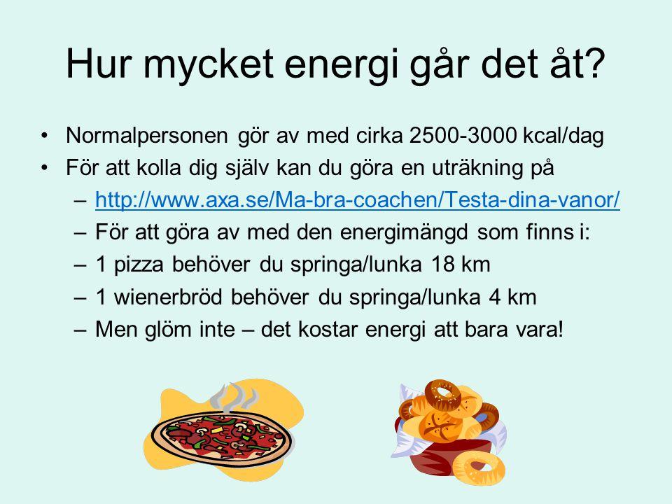 Hur mycket energi går det åt