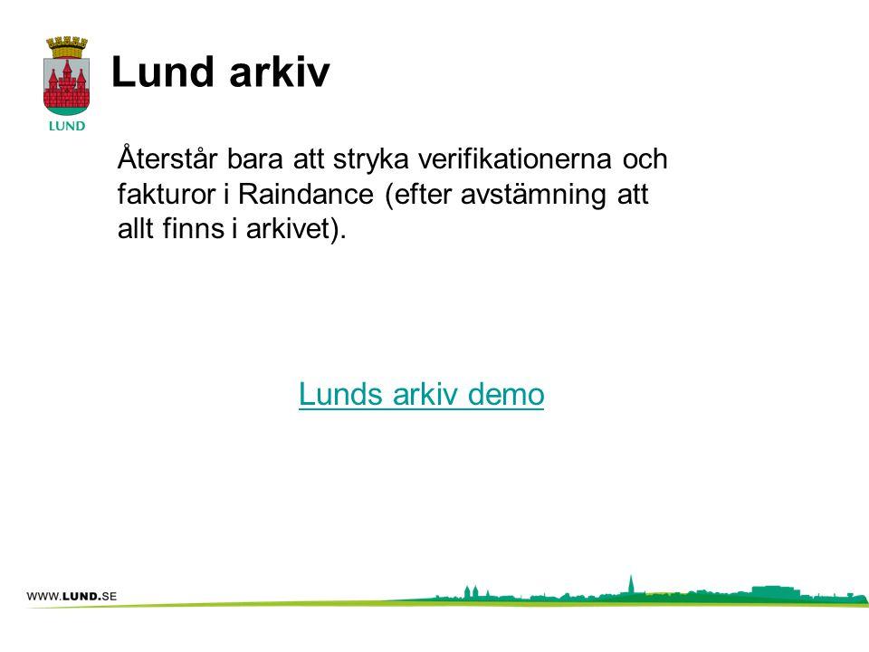Lund arkiv Lunds arkiv demo