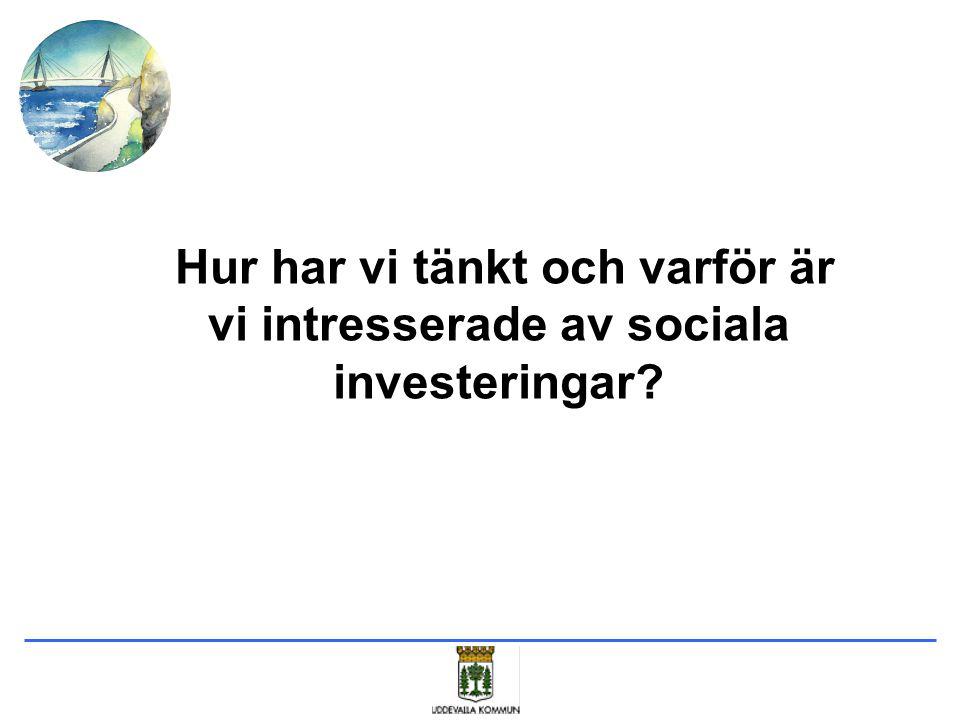 Hur har vi tänkt och varför är vi intresserade av sociala investeringar