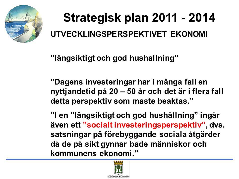 Strategisk plan 2011 - 2014 UTVECKLINGSPERSPEKTIVET EKONOMI