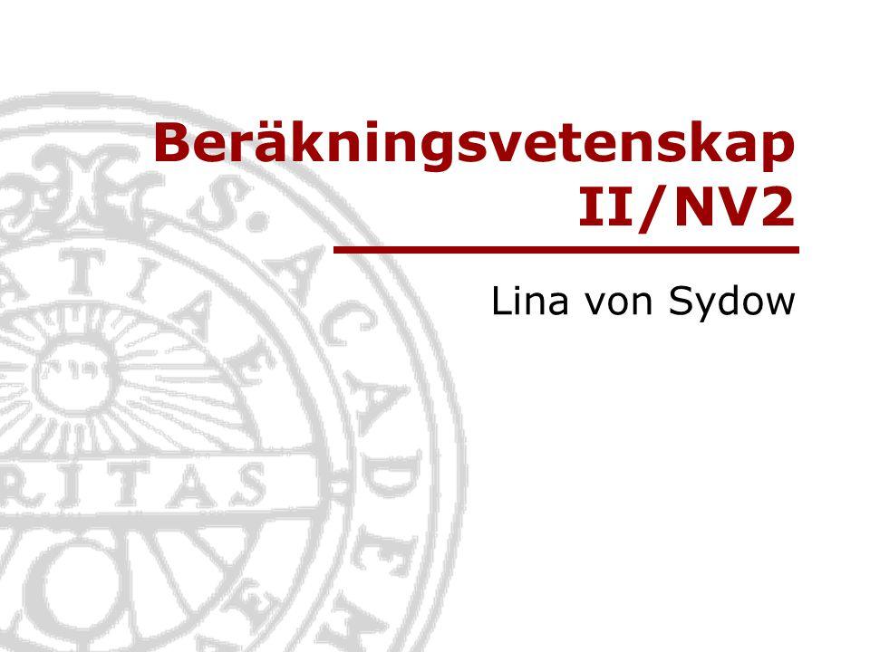 Beräkningsvetenskap II/NV2