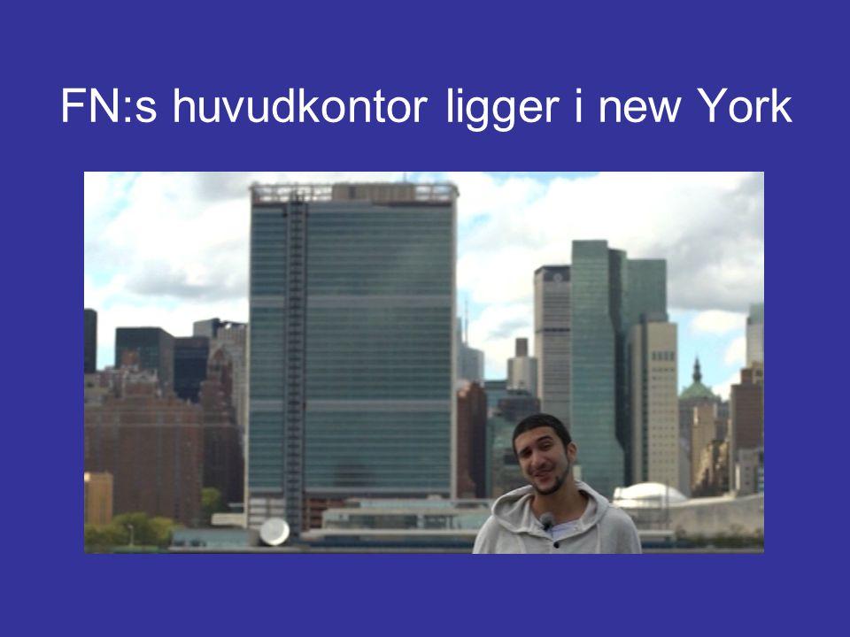 FN:s huvudkontor ligger i new York