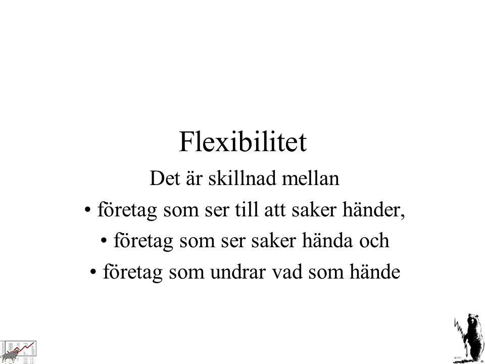 Flexibilitet Det är skillnad mellan