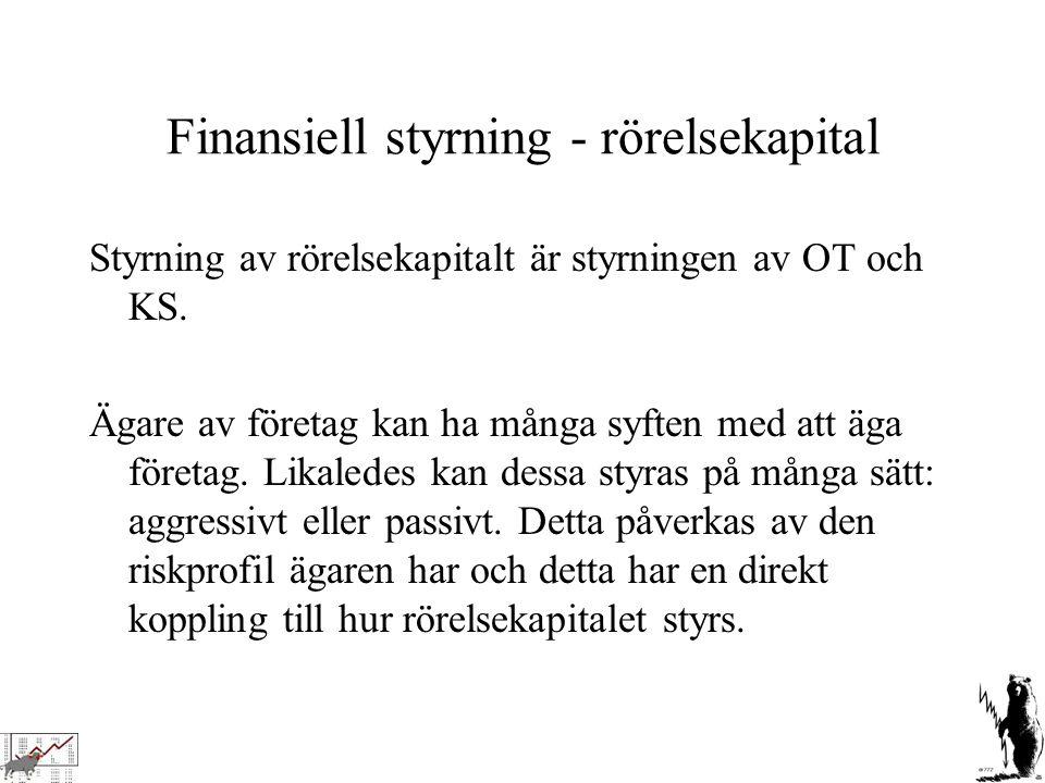Finansiell styrning - rörelsekapital