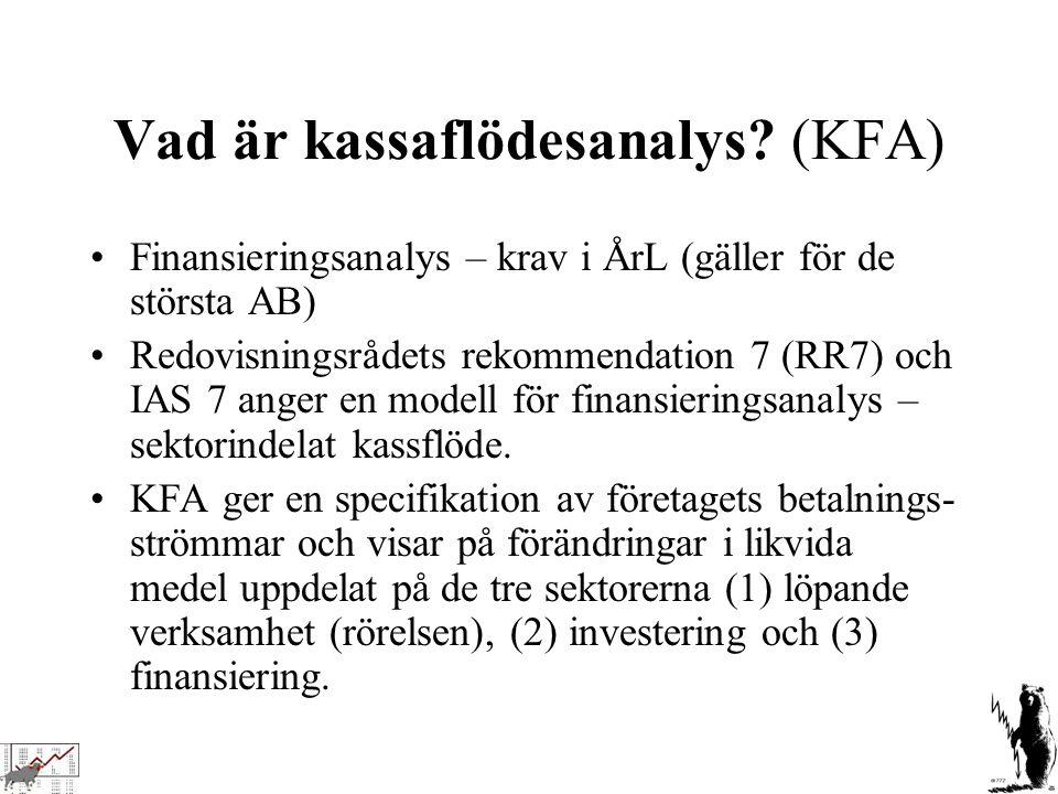 Vad är kassaflödesanalys (KFA)
