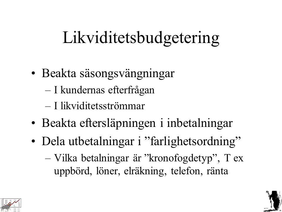 Likviditetsbudgetering