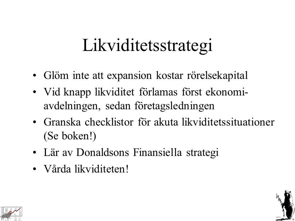 Likviditetsstrategi Glöm inte att expansion kostar rörelsekapital