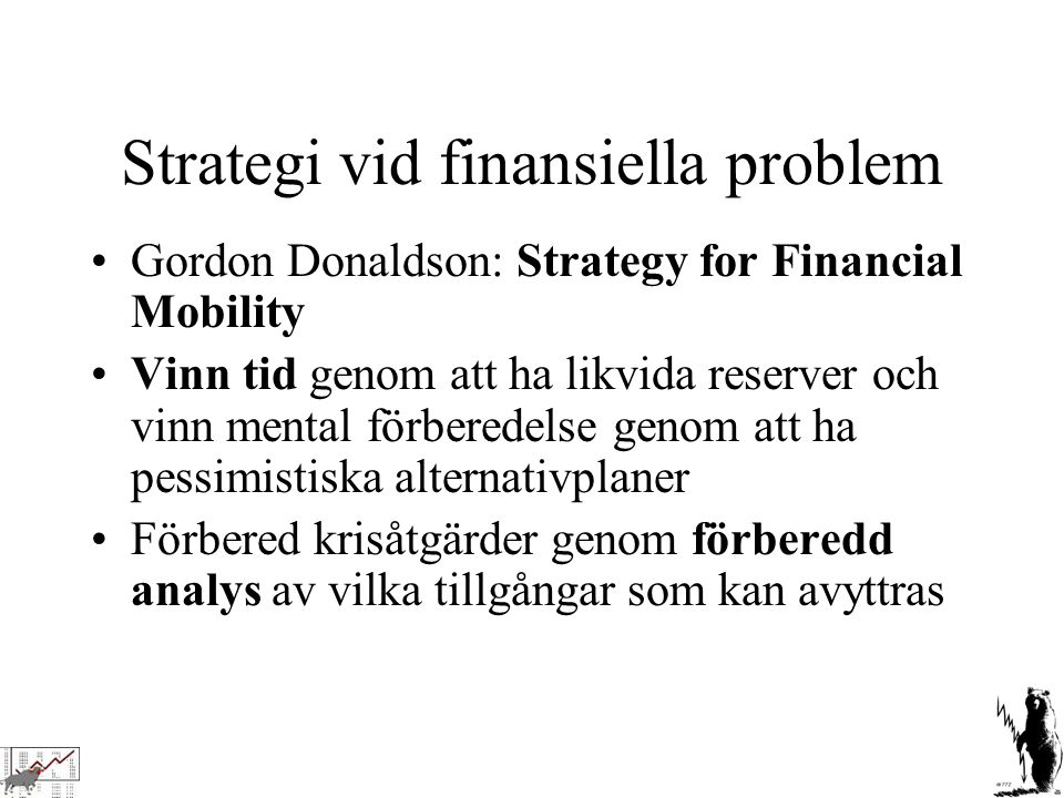 Strategi vid finansiella problem