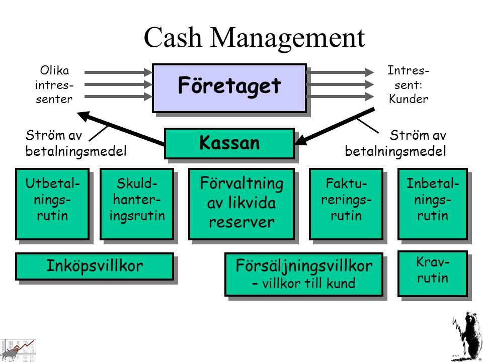 Cash Management Företaget Kassan Förvaltning av likvida reserver