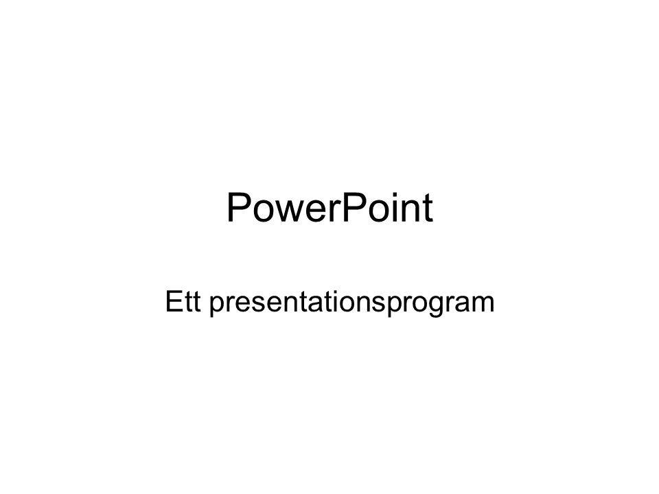 Ett presentationsprogram
