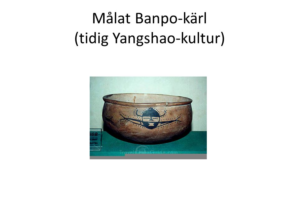 Målat Banpo-kärl (tidig Yangshao-kultur)