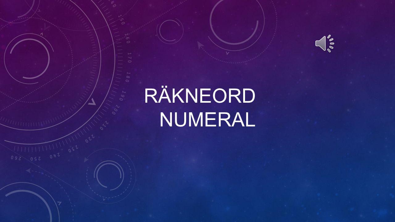 Räkneord Numeral