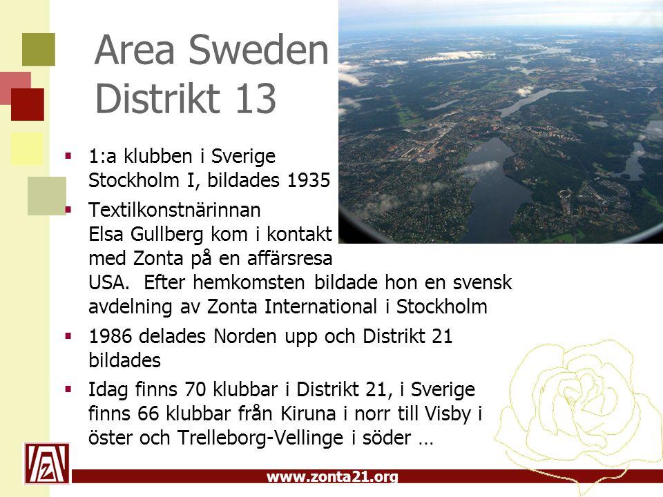 Area Sweden Distrikt 13 1:a klubben i Sverige Stockholm I, bildades 1935.