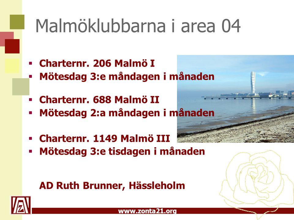 Malmöklubbarna i area 04 Charternr. 206 Malmö I