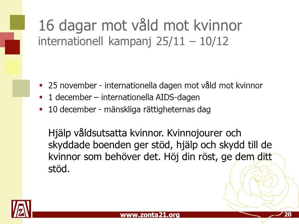 16 dagar mot våld mot kvinnor internationell kampanj 25/11 – 10/12