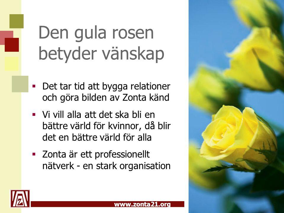 Den gula rosen betyder vänskap