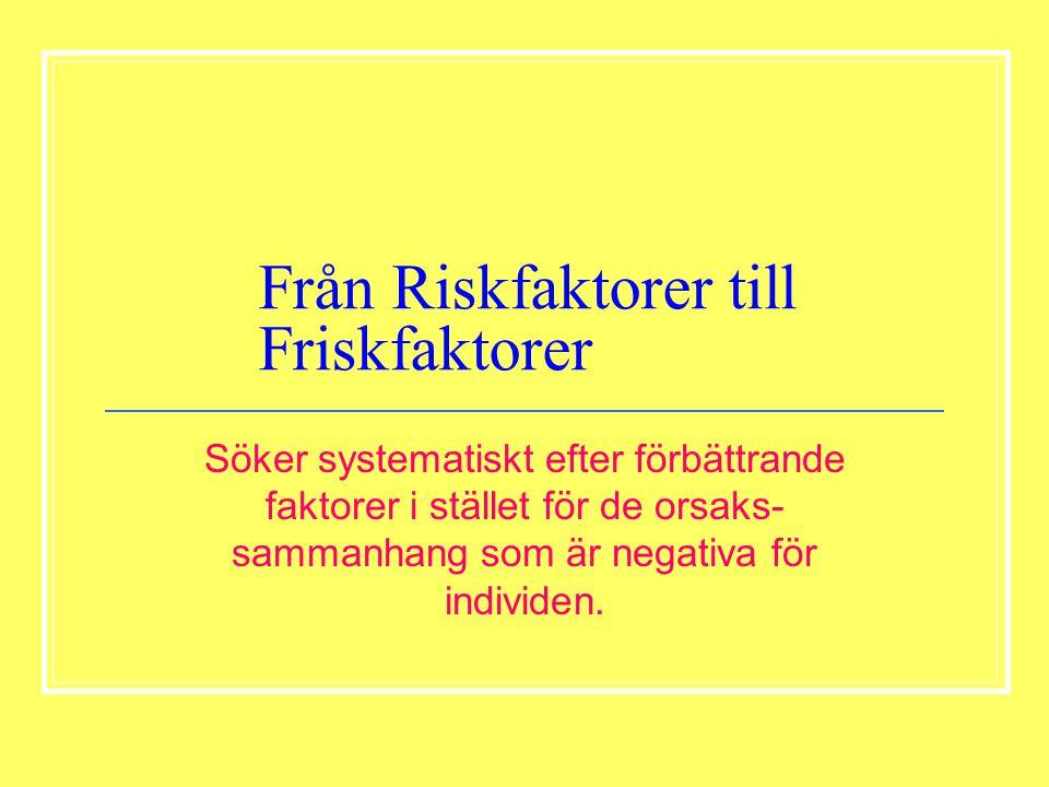 Från Riskfaktorer till Friskfaktorer