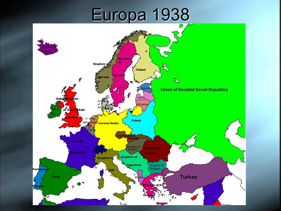 Europa 1938