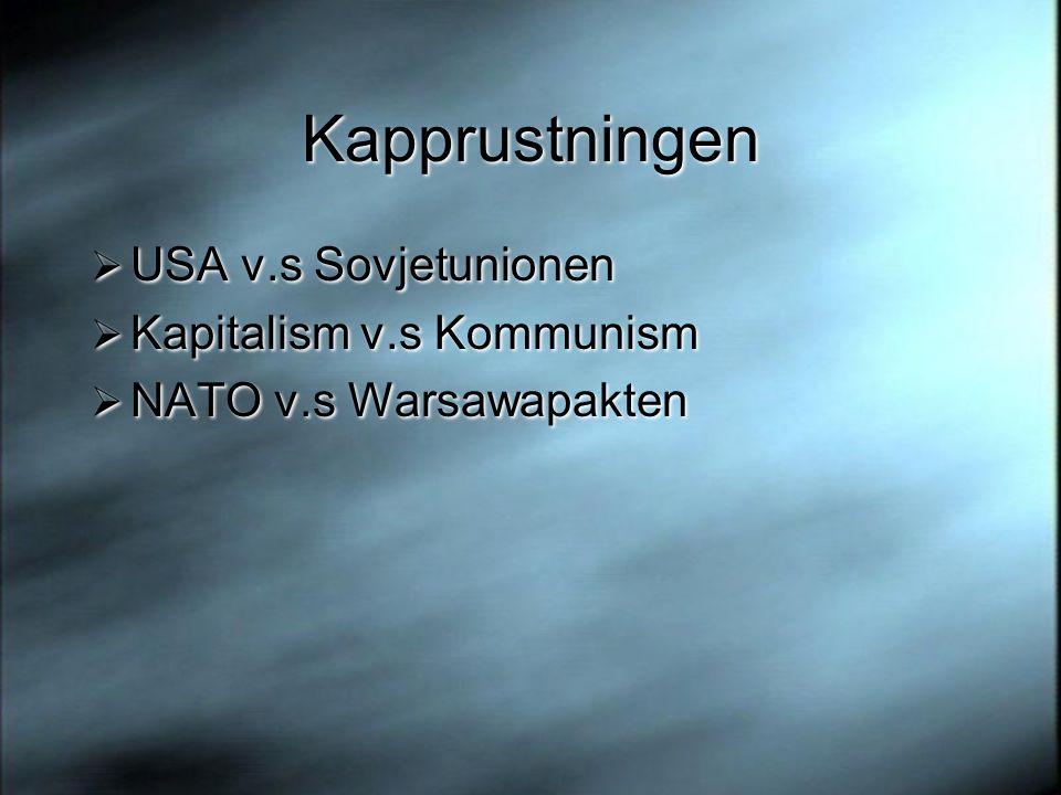 Kapprustningen USA v.s Sovjetunionen Kapitalism v.s Kommunism