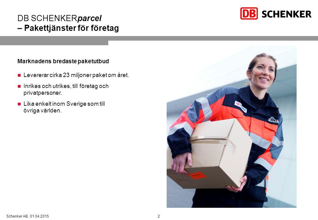 DB SCHENKERparcel – Pakettjänster för företag
