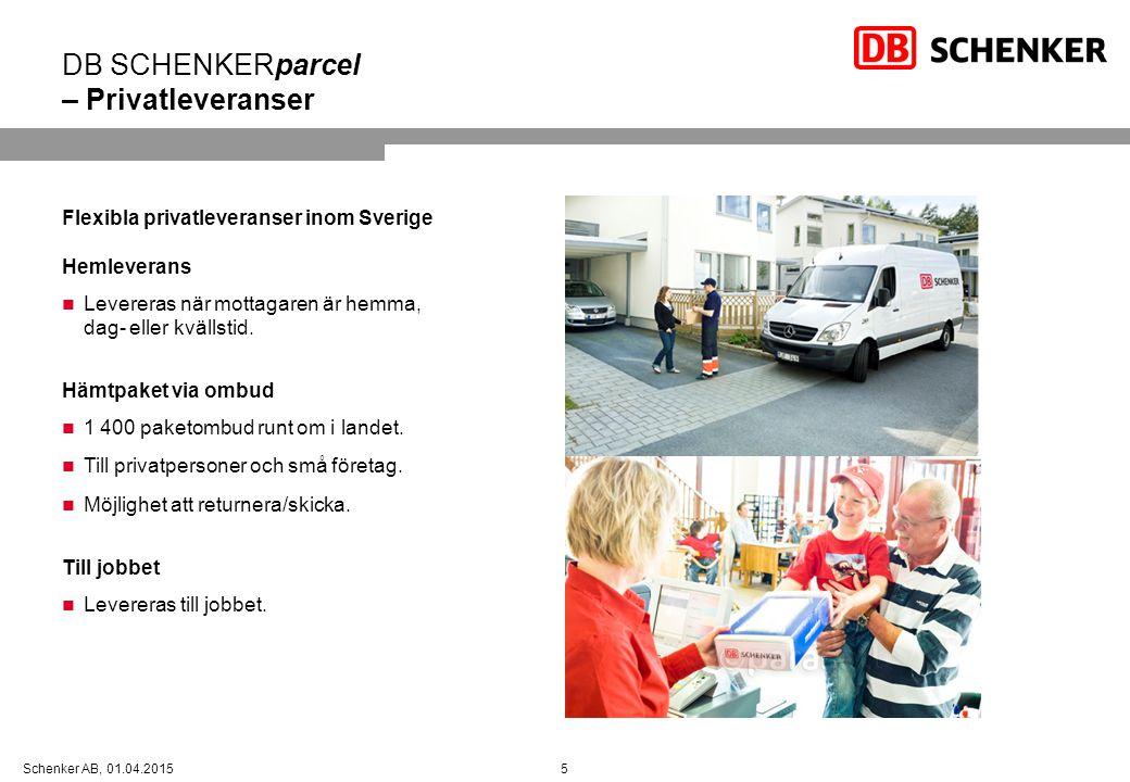 DB SCHENKERparcel – Privatleveranser