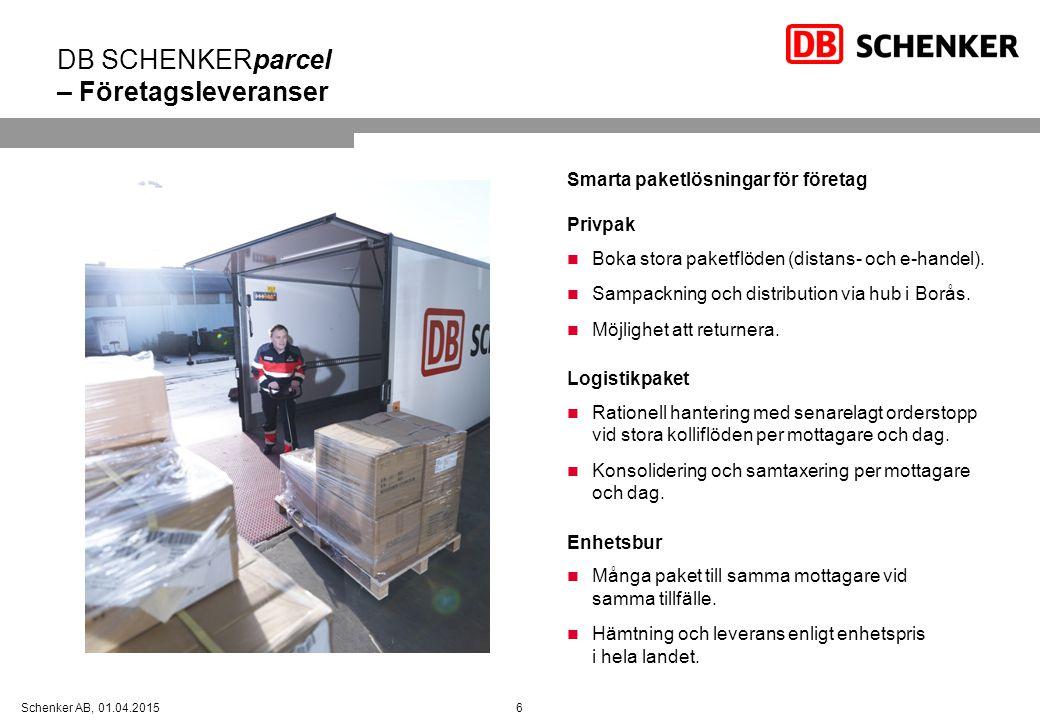 DB SCHENKERparcel – Företagsleveranser