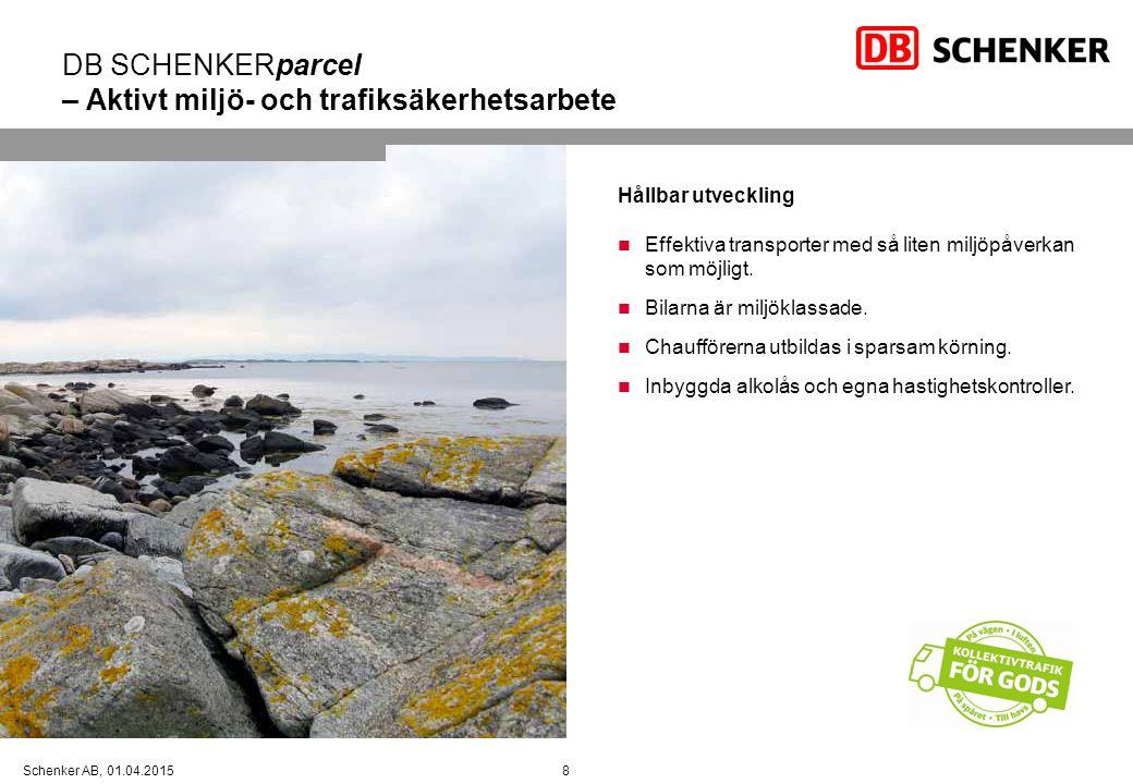 DB SCHENKERparcel – Aktivt miljö- och trafiksäkerhetsarbete