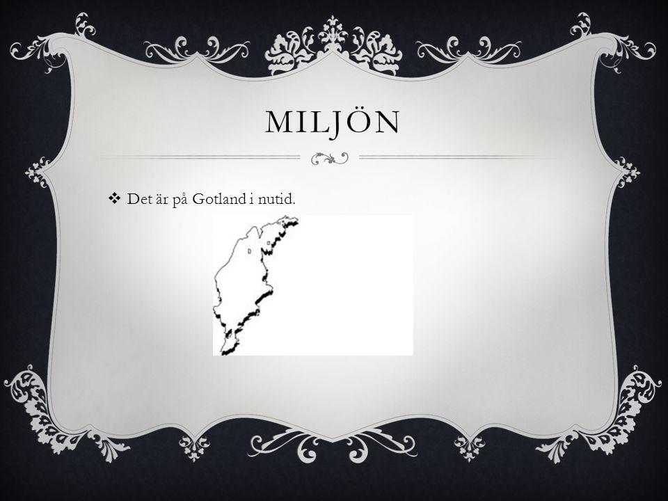 Miljön Det är på Gotland i nutid.
