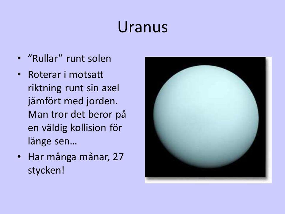 Uranus Rullar runt solen