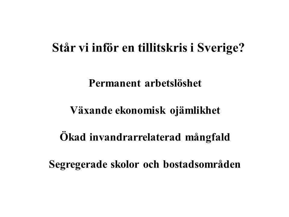 Står vi inför en tillitskris i Sverige