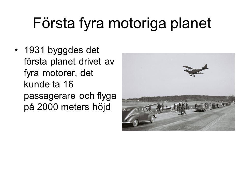 Första fyra motoriga planet