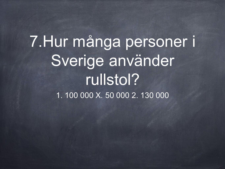 7.Hur många personer i Sverige använder rullstol