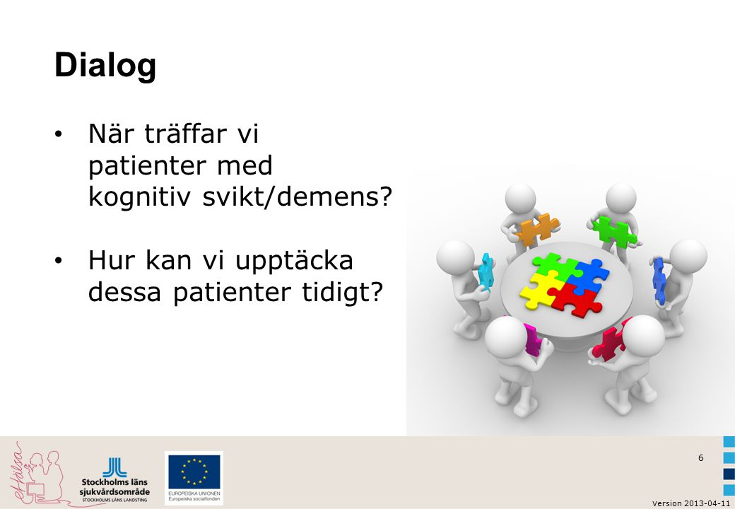 Dialog När träffar vi patienter med kognitiv svikt/demens
