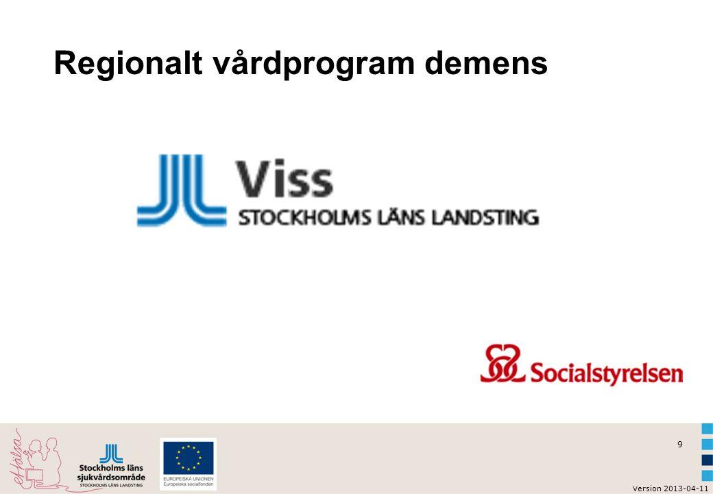 Regionalt vårdprogram demens