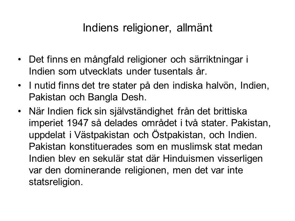 Indiens religioner, allmänt