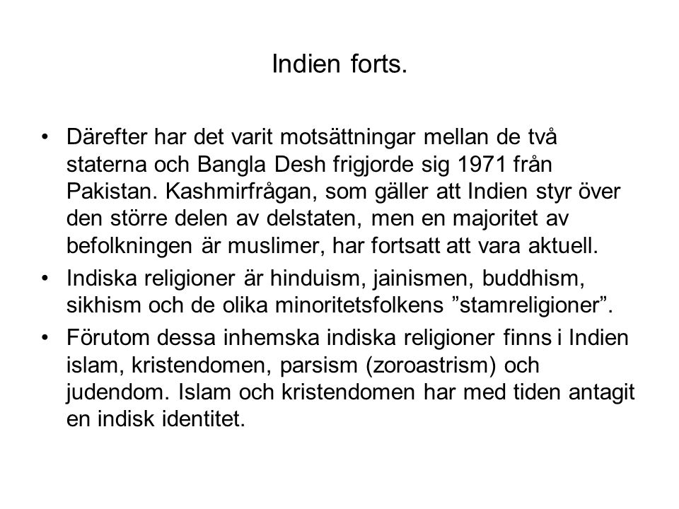 Indien forts.