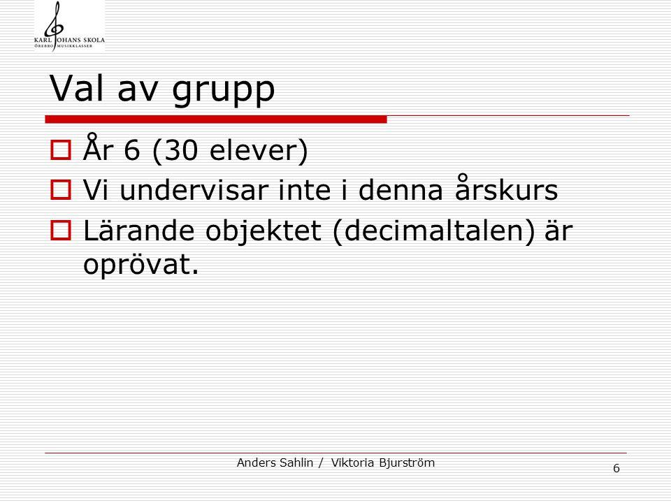 Anders Sahlin / Viktoria Bjurström