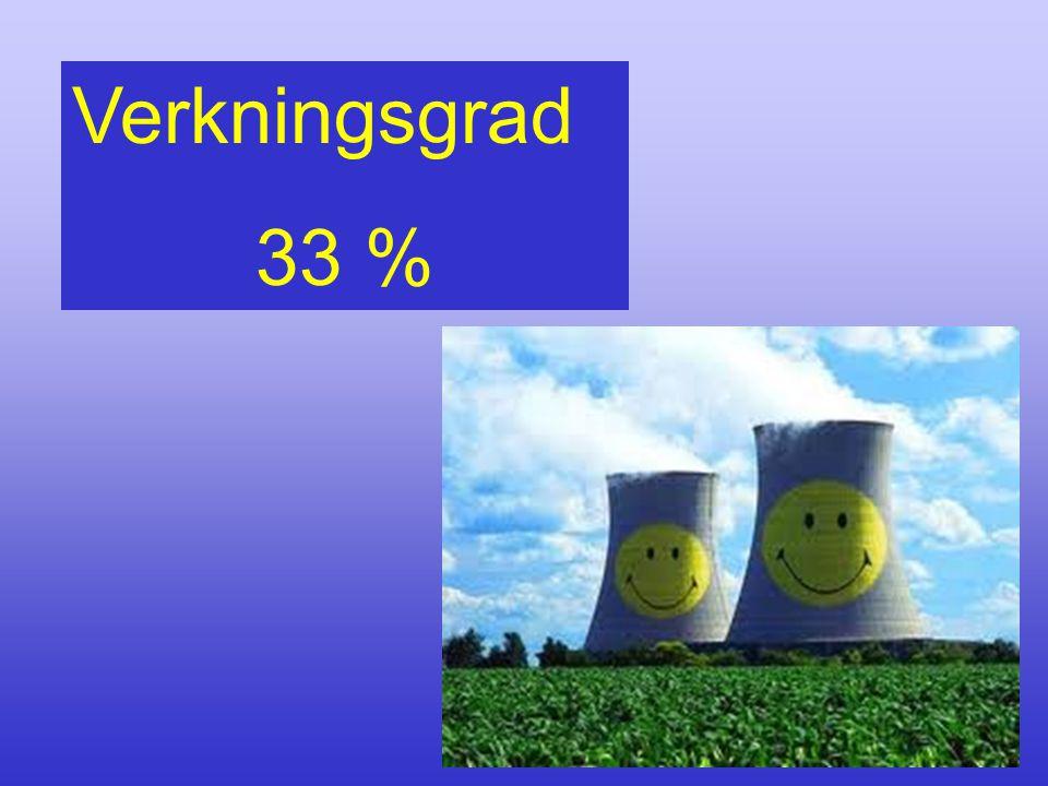 Verkningsgrad 33 %