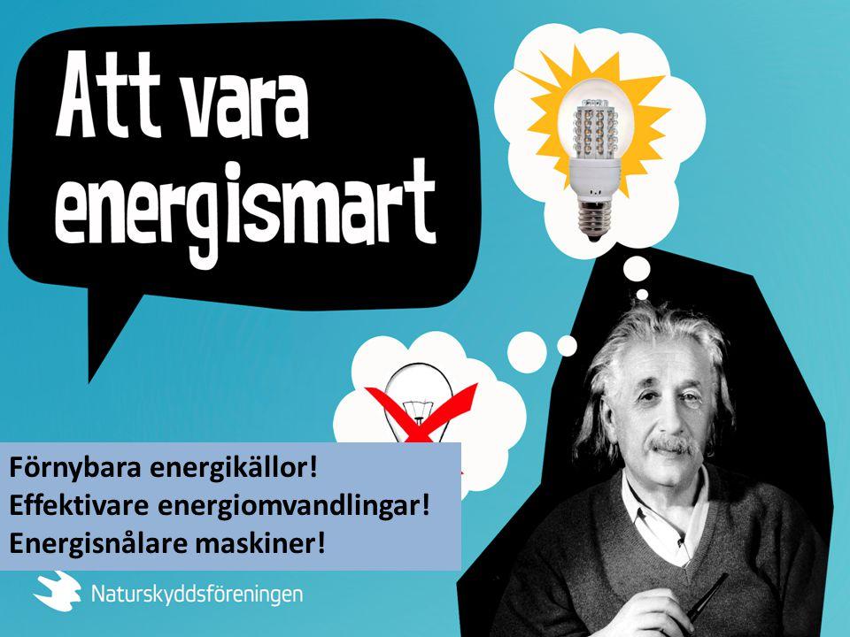 Förnybara energikällor!