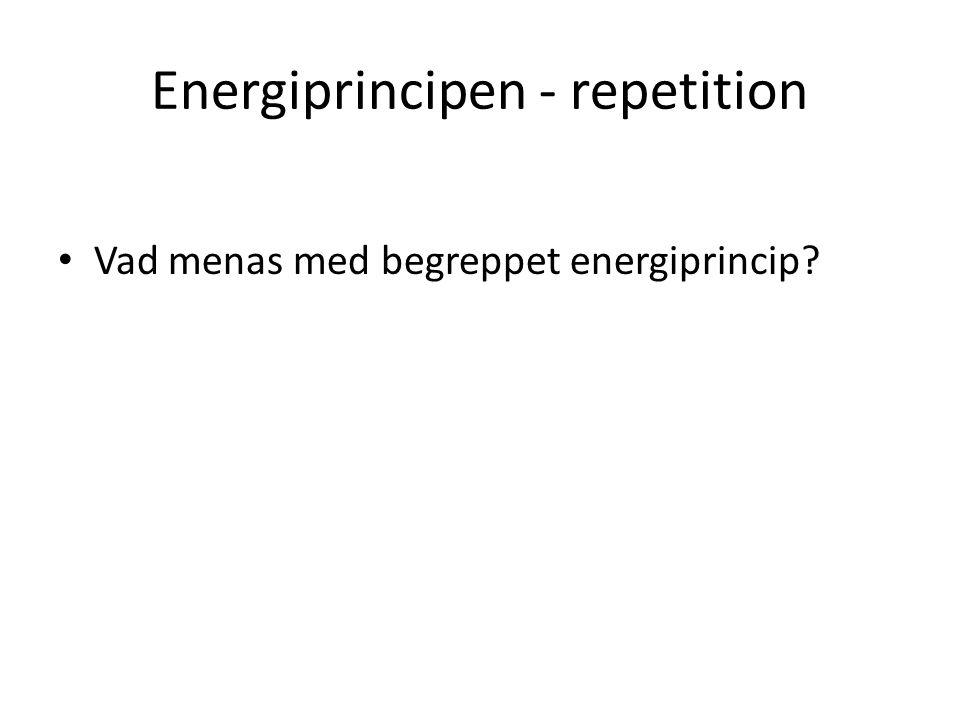 Energiprincipen - repetition