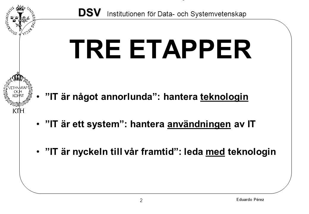 TRE ETAPPER IT är något annorlunda : hantera teknologin