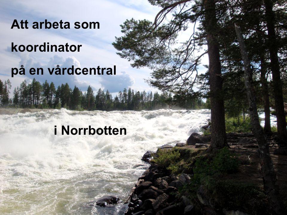 Att arbeta som koordinator på en vårdcentral i Norrbotten